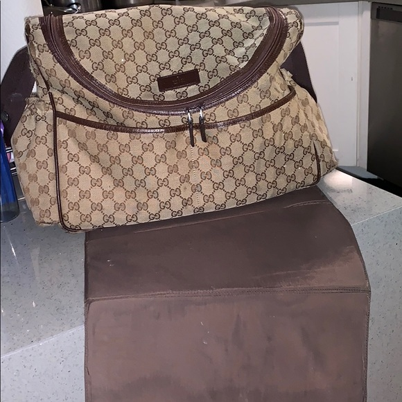 342a3775dda Gucci Other - Gucci Baby Diaper bag with changing pad